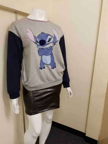 Disney Stitch Ladies Jumper Full Sleeves Women/'s Sweater Sizes Available Primark