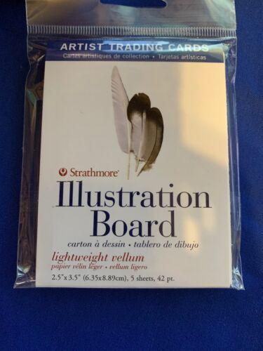 """Strathmore Artist Trading Cards 2.5/""""X3.5/"""" 5//Pkg-Illustration Board Vellum w prot"""