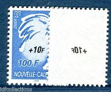 Cagou N°964 Nouvelle Calédonie variété surcharge recto verso