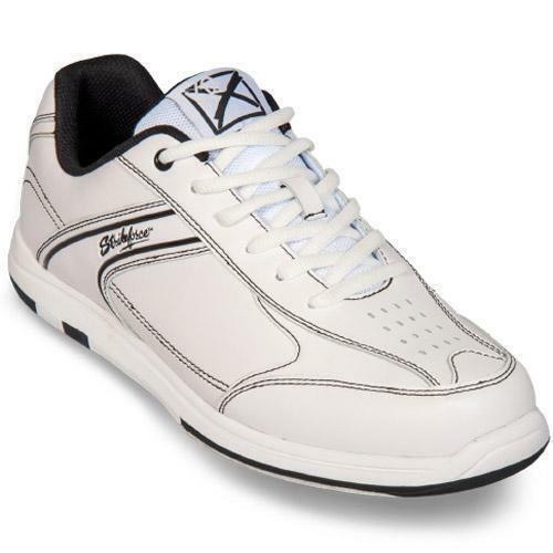 KR Strikeforce Mens Flyer White//Black Bowling Shoes