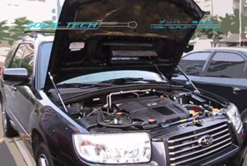 Silver Carbon Strut Lifter Support Hood Damper Kit for 05-07 Subaru Forester SG