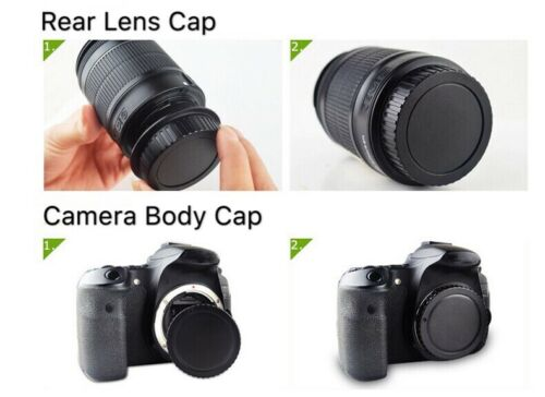 Camera Body and Rear Lens Dust Cap Cover for Micro 4//3  Panasonic Lumix UK