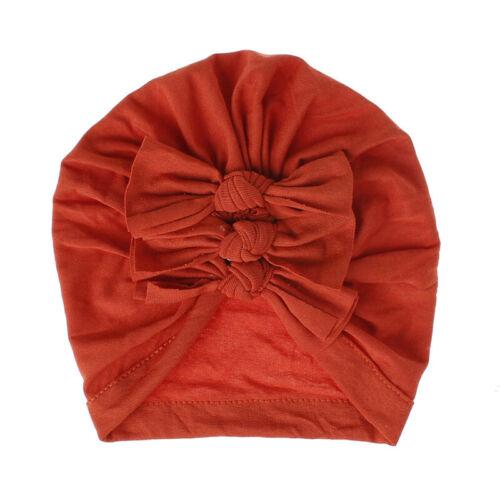 Baby Cotton Turban Top Knot Hat Kids Girl India Beanie Cap Soft Newborn Headwear