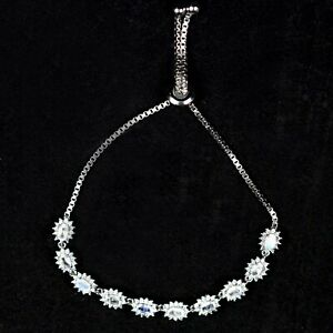 Natural-Rainbow-Moonstone-Gemstone-925-Sterling-Silver-Adjustable-Chain-Blacelet