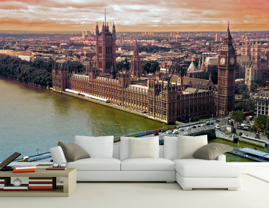 3D London Scenery 75 Wall Paper Murals Wall Print Wall Wallpaper Mural AU Summer