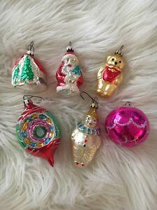 German Christmas Ornaments.Details About Vintage German Christmas Ornaments Mixed Lot Of 6 Hand Painted Santa Bear