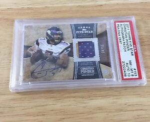 Christian-Ponder-2011-topps-five-star-signed-Rookie-Psa-8-Auto-10-Relic-153
