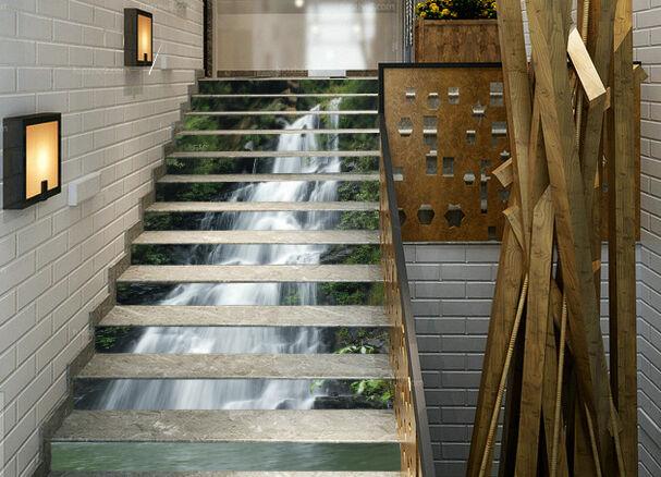 3D Fallen Fließend Stair Risers Dekoration Fototapete Vinyl Aufkleber Tapete DE
