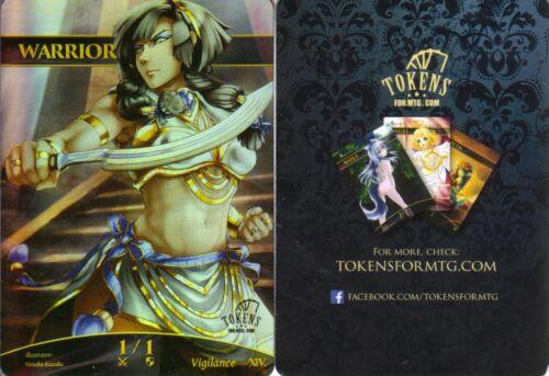 Tokens for MTG Warrior Token FOIL Version 2NMaltered Art Promo