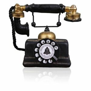 Retro-Black-Phone-Prop-Rotary-Dial-Vintage-Telephone-Corded-Collectors-Gifts