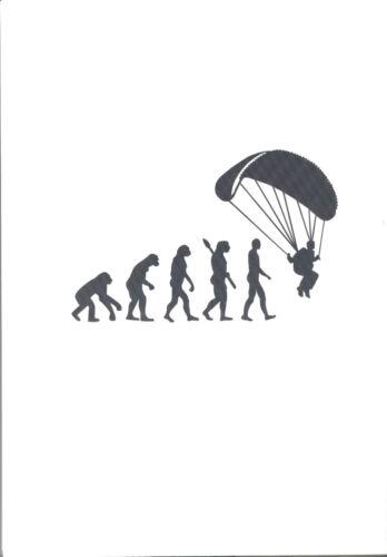 Evolution Gleitschirm Aufkleber in Schwarz Auto car sticker paragliding black