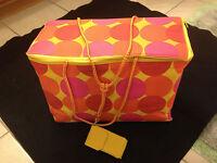 Tupperware Cooler Bag Family Size Rectangular 'dots'-ship Free