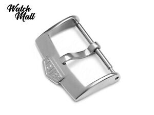 Fits-TAG-HEUER-Buckle-Clasp-for-Watch-Leather-Rubber-Strap-Band-Silver
