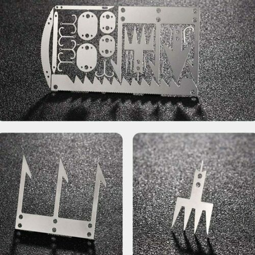 22 In1 Multi-Tool Fishing Gear Credit Card Outdoor Survival Camp Hunting Kit ybx