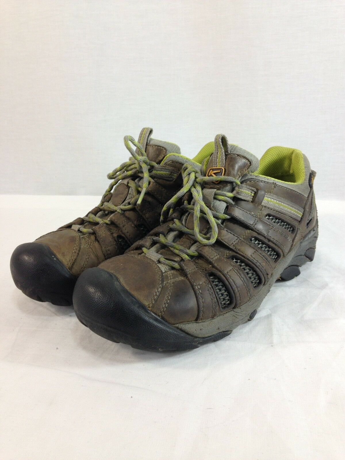 Keen Hiking Stiefel Trail Turnschuhe schuhe daSie 9 braun Leather Tow Top Lace Up