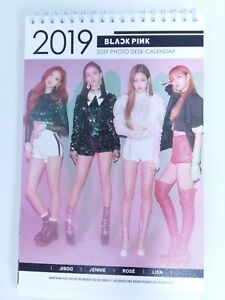 Blackpink Black Pink Photo 2019 2020 Desk Calender Calendar Jennie