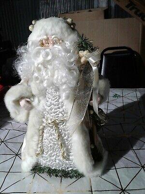 NEW CHRISTMAS TREE Topper SANTA St NICHOLAS Tall Velvet Coat Table TOP