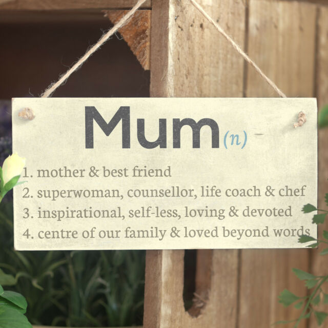 Mum Dictionary Definition Mother & Best Friend.. Gift For Mum Hanging Wall Sign