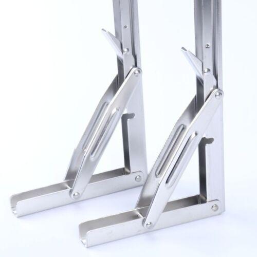 """2PCS Heavy Duty Stainless Steel Marine Boat Folding Table Bracket 11/""""-EAN"""