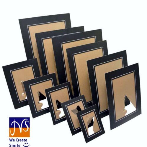 10 x Black A4 21x30cm Strut Photo Mounts Card Frame Picture Board School