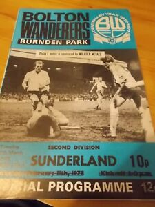 Bolton-Wanderers-v-Sunderland-7-3-78-programme-2nd-division