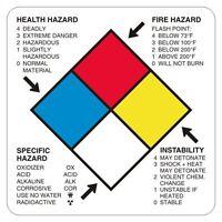 Health Hazard Hazardous Materials Labels, 4 X 4 Inches, Vinyl, Roll Of 500