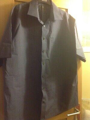 """Pratico Men's Marks And Spencer Collezione Camicia Check Blu Taglia 17.5"""" Collo- Design Moderno"""