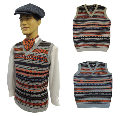 1940s UK and Europe Men's Clothing – WW2, Swing Dance, Goodwin    Mens Vintage style  1930s 40s WW2 Wartime Fair isle knit slip over Tank Top  £34.99 AT vintagedancer.com