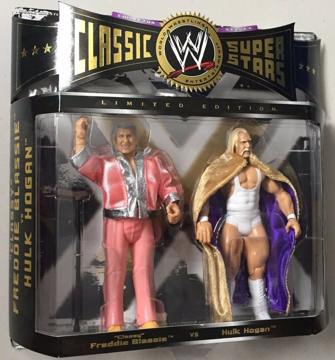 WWE Jakks Classic ToysRUs Exclusive FREDDIE BLASSIE HULK HOGAN Wrestling Figures