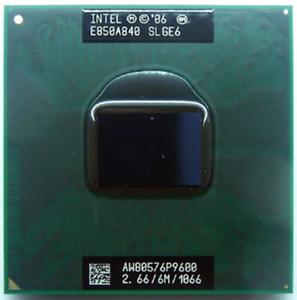 Intel Core 2 Duo P9600 2.66GHz 6M Cache 1066 MHz FSB Processor PM45 GM45 Chipset
