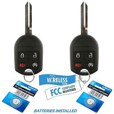 2 Car Key Fob Keyless Remote 4B For 2011 2012 2013 2014 2015 2016 Ford Taurus