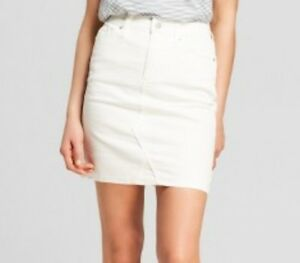 super quality search for latest great discount for Details about NWOT NEW UNIVERSAL THREAD Women's short denim/jean  skirt-White 18