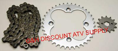 Green Drive Chain and Sprockets Kit Fits HONDA TRX300EX TRX300X SporTrax 300 2x4