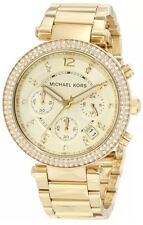 Michael Kors MK5354 Women's Parker Gold Ion Plated SS Bracelet Watch 39mm