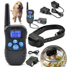 Electric Trainer E-Collar Waterproof Remote Pet Safe Dog Shock Training Collar