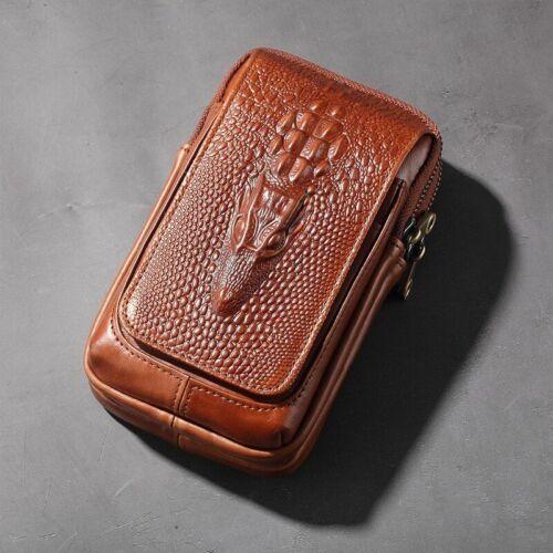 Piuncle Men/'s Genuine Leather Belt Bag Men Fanny Pack Designer Waist Bag Belt