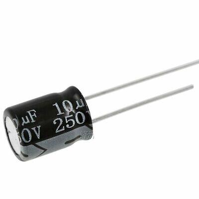 50PCS 4.7uF 250V 4.7MFD 250Volt Electrolytic Capacitor 8mm×12mm NEW
