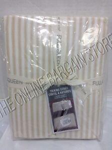 Pottery Barn West Elm Ticking Stripe Bed Duvet Cover Full