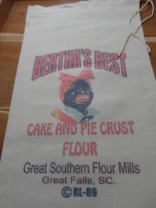 RL-89-BERTHA-039-S-BEST-Flour-Bag-Sack-Feed-Seed-Novelty-Collectible