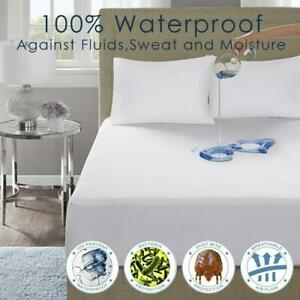 waterproof-terry-towel-mattress-protector-Fitted-sheet-cover-Single-Double-King