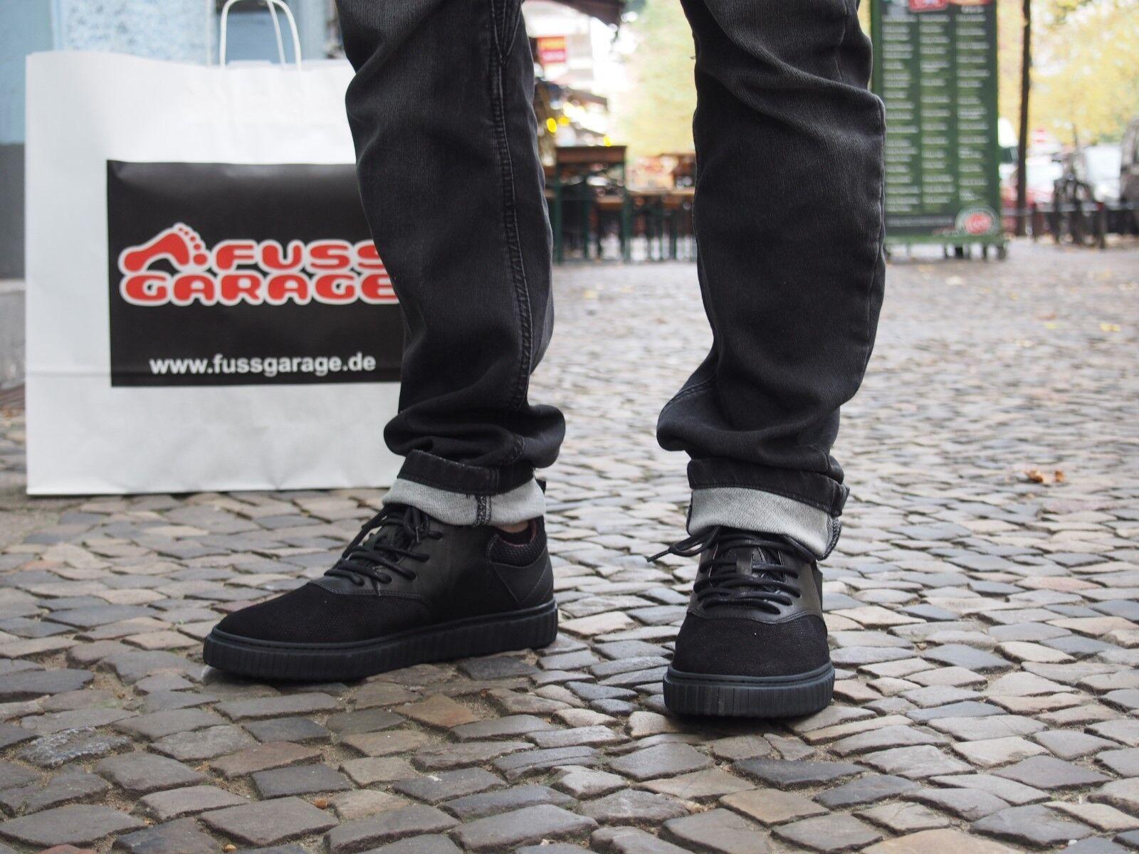 COXX BORBA Herrenschuh Mlizard Echtleder Schnürschuhe Black/Black Gummisohle neu