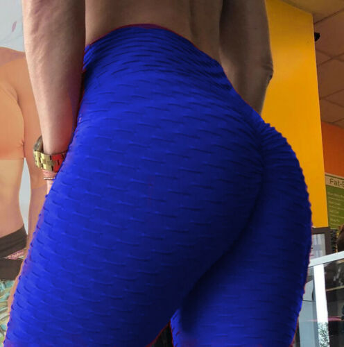 Plus Size Yoga Pants Sport Women Ruched Butt Lift Booty Leggings Fitness Gym X97
