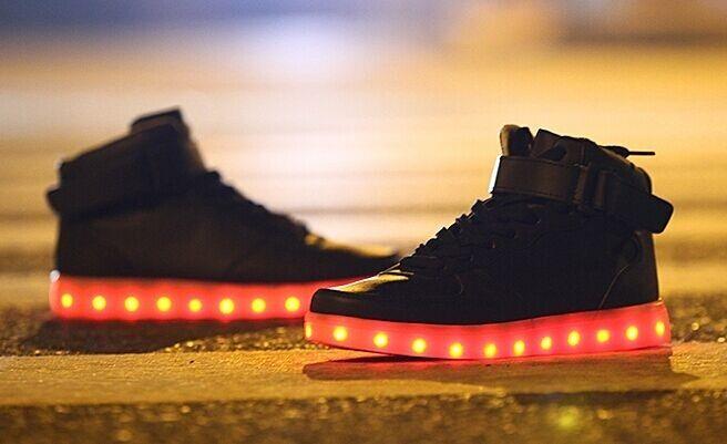 Led chaussures Brillant de Sport Décontracté Baskets Femme Homme Garçon Fille