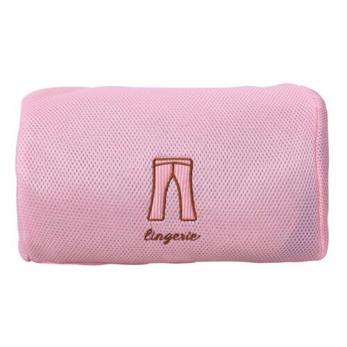 US Pink Underwear Clothes Aid Bra Socks Laundry Washing Machine Net Mesh Bags A4
