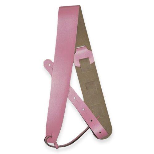 ░▒ Wildleder Gitarrengurt ▒░ SLIN ProMont pink schwarz