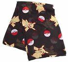 Pokemon Pikachu & Pokeballs Scarf One Size Black SF2L7JPOK