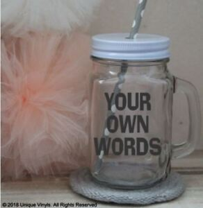 Mason Jar Sticker Personalised Sticker Design Your Own Sticker For
