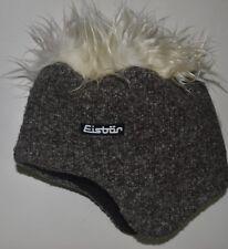 """Eisbär Mütze Strickmütze Eisbärmütze mit Haaren  """"COCKER"""", Fleece, braun-weiss"""