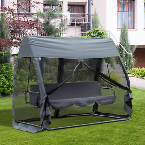 Image Is Loading Swing Chair Lounger Bed Hammock 3 Person Mesh