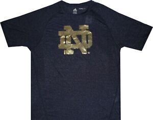 Adidas-Notre-Dame-Fighting-Irish-Climalite-Navy-Short-Sleeve-Shirt-35-New-tags